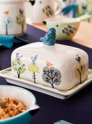Biela vzorovaná dóza na maslo Cooksmart