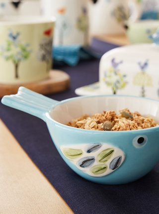 Modrá miska v tvare vtáka Cooksmart
