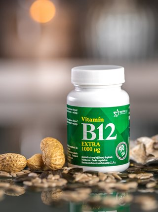 Doplněk stravy Vitamín B12 Extra Nutricius (90 tablet)