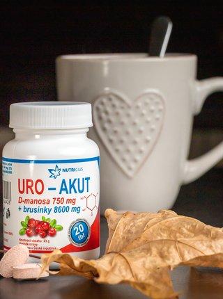 Doplněk stravy URO Akut Manosa + Brusinky Nutricius (20 tablet)