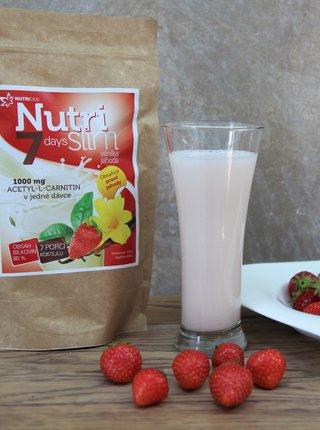 Nápoj v prášku NutriSlim Vanilka + jahoda Nutricius (210 g)