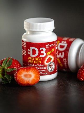 Doplněk stravy pro děti Vitamín D3 Nutricius (90 tablet)