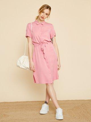 Růžové košilové šaty ZOOT Nere