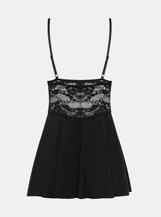 Košilka 810-BAB black babydoll - Obsessive černá
