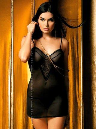 Košilka Carat chemise - Obsessive černá