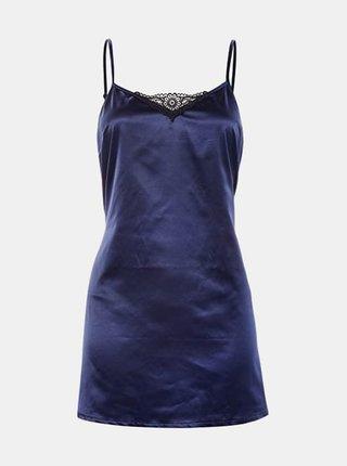 Košilka Satinia babydoll dark blue - Obsessive tm.modrá