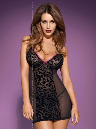 Košilka Tigra chemise - Obsessive černá
