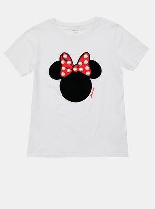 Bílé holčičí tričko s potiskem name it Minnie