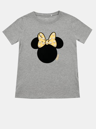 Šedé dievčenské tričko s potlačou name it Minnie