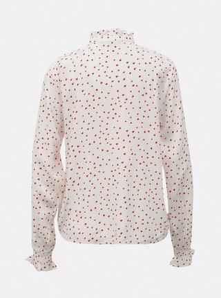 Biela vzorovaná košeľa TOP SECRET