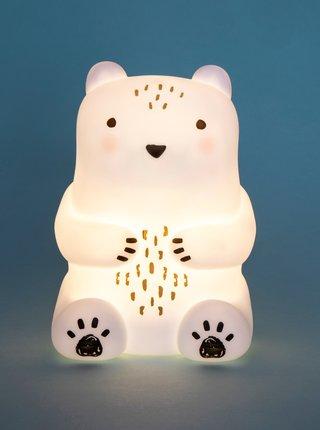 Bílá lampička ve tvaru medvěda Sass & Belle
