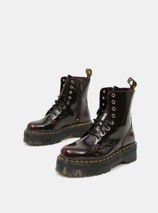 Vínové dámské kožené kotníkové boty Dr. Martens Jadon Arcadia