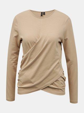Béžové tričko VERO MODA