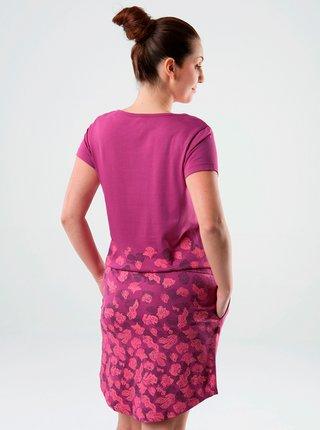 Růžové vzorované šaty se zavazováním LOAP