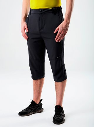 Čierne pánske 3/4 nohavice s vreckami LOAP