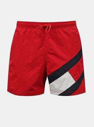 Tommy Hilfiger červené pánske plavky Medium Drawstring