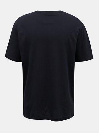 Tommy Hilfiger modré pánske tričko Drop Shoulder Tee s logom