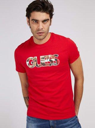 Guess červené pánské tričko Photoshow CN