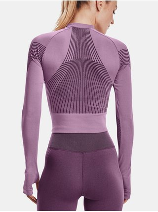 Tričko Under Armour Rush Seamless Longsleeve - Fialová