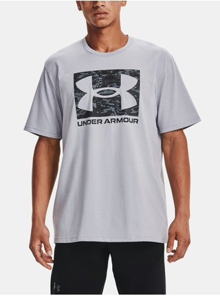 Tričko Under Armour UA ABC CAMO BOXED LOGO SS - Šedá