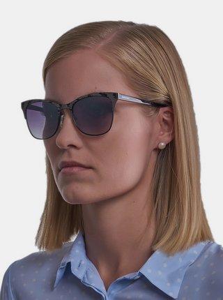 Šedé dámske vzorované slnečné okuliare Guess by Marciano