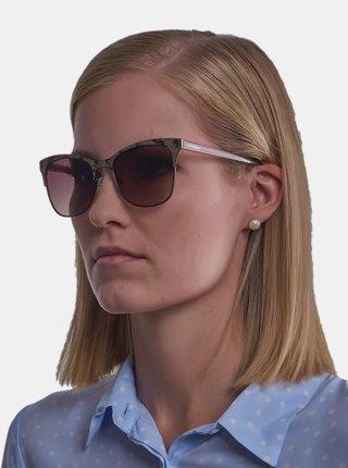 Béžové dámské vzorované sluneční brýle Guess by Marciano