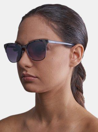 Tmavomodré dámske vzorované slnečné okuliare Guess by Marciano