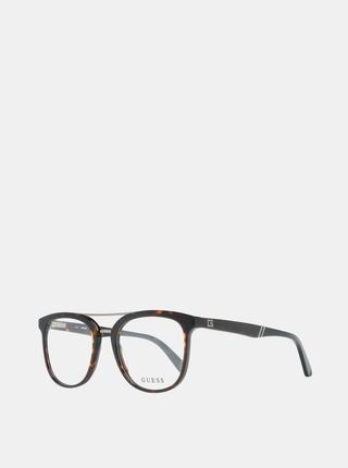 Hnědo-černé pánské obroučky brýlí Guess