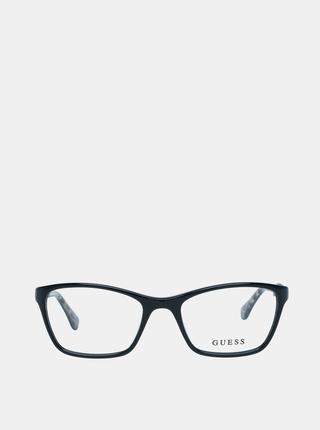 Modro-černé dámské vzorované obroučky brýlí Guess