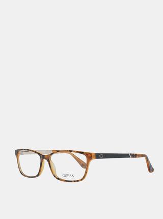 Černo-hnědé dámské vzorované obroučky brýlí Guess