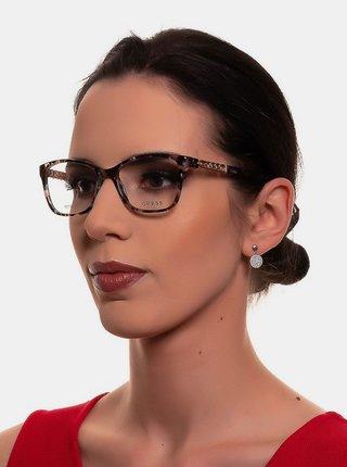 Staroružové dámske vzorované okuliarové obrúčky Guess