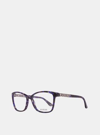 Tmavomodré dámske vzorované okuliarové obrúčky Guess