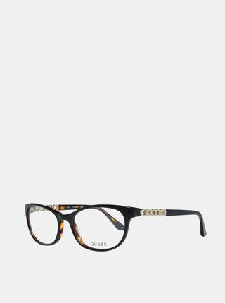 Hnědo-černé dámské obroučky brýlí Guess