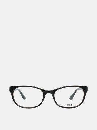 Hnedo-čierne dámske okuliarové obrúčky Guess