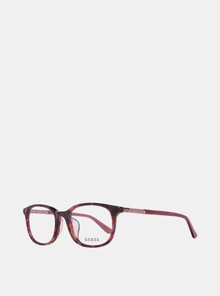Vínové dámské vzorované obroučky brýlí Guess