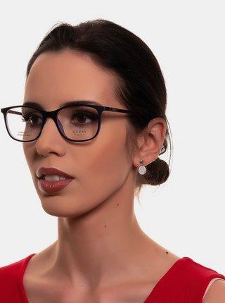 Fialovo-černé unisex obroučky brýlí Guess