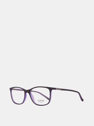 Fialovo-čeirne unisex okuliarové obrúčky Guess