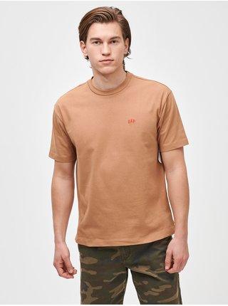 Béžové pánské tričko micro arch easy t-shirt