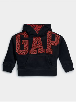 Detská mikina GAP Logo jac cny po solid hood Čierna