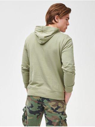 Mikina GAP Logo arch hoodie Zelená