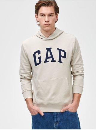 Zelená pánská mikina GAP Logo arch hoodie