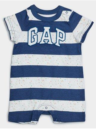 Baby overal GAP Logo arch shirty Modrá