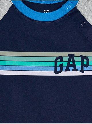 Baby tričko GAP Logo arch raglan tee Modrá
