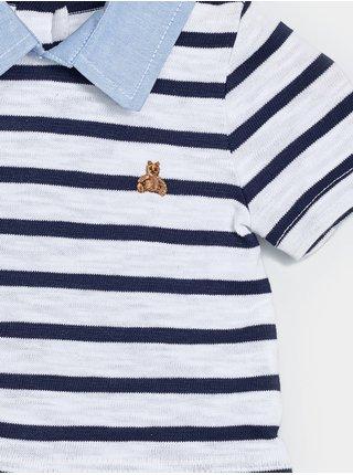 Modrý klučičí baby overal intl 3n1 shrty