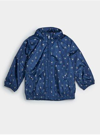 Modrá holčičí dětská bunda recycled print packable windbuster