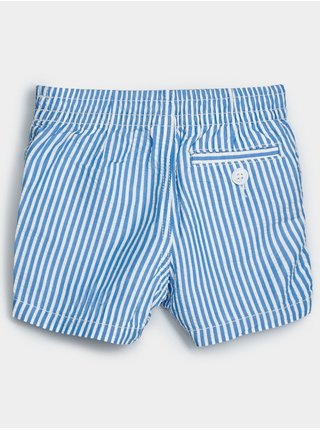 Modré klučičí baby kraťasy seersucker shorts