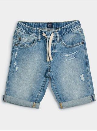 Modré klučičí dětské kraťasy pull-on distressed denim shorts