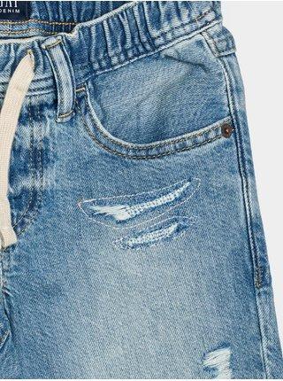 Detské kraťasy pull-on distressed denim shorts Modrá