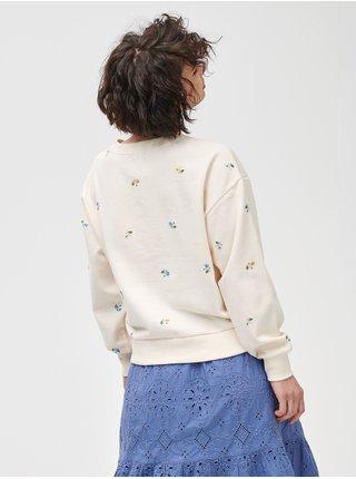 Béžová dámská mikina GAP Logo crewneck sweatshirt