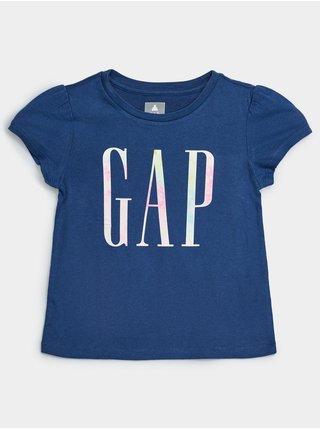 Modré holčičí dětské tričko GAP Logo organic mix and match t-shirt